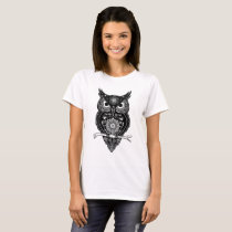 Mandala Owl ~ floral T-Shirt