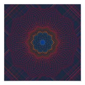 Mandala pacífica del caleidoscopio de la invitación 13,3 cm x 13,3cm