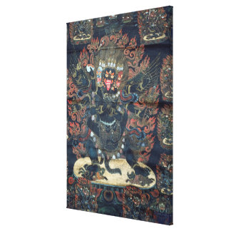 Mandala (painted parchment) gallery wrapped canvas