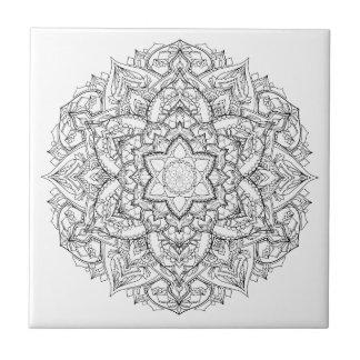 Mandala Painting Ceramic Tile