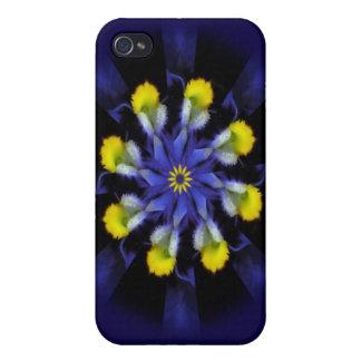 Mandala Pansy Purple & Yellow iPhone 4 Case