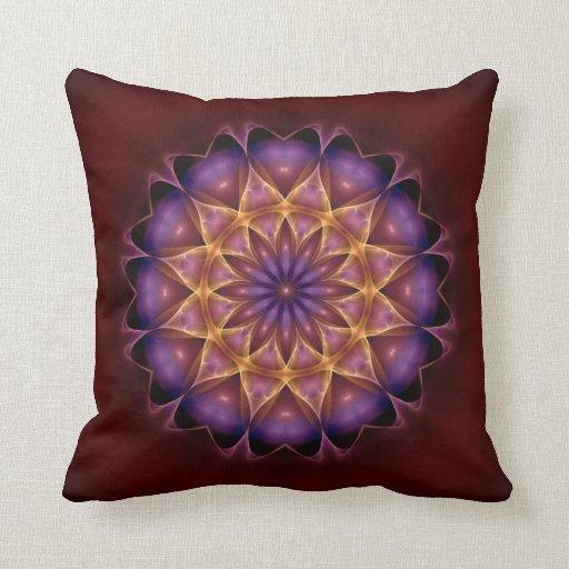 Mandala para el adelanto espiritual almohadas