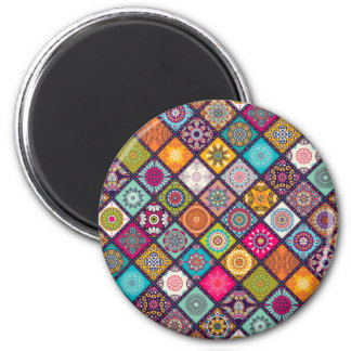 Mandala pattern colourful Moroccan Magnet