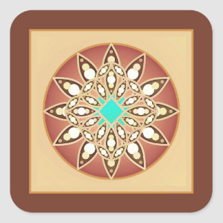 Mandala pattern in caramel and chocolate sticker