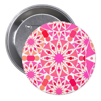 Mandala pattern, shades of pink and coral buttons