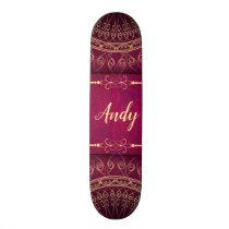 Mandala pattern skateboard deck