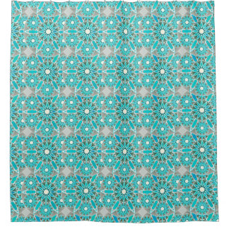 Turquoise And White Shower Curtains Zazzle