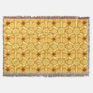 Make Your Own Yellow Gold Mandala Blanket Bundle Up In Yours Today