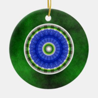 Mandala peace created by Tutti Ceramic Ornament