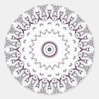 Mandala Pegatina Redonda