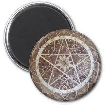 Mandala Pentacle Magnet
