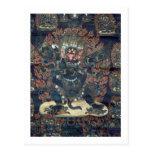 Mandala (pergamino pintado) postal