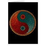 Mandala pintada a mano de Yin Yang Tarjeta De Felicitación