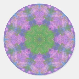 mandala pintada pegatina redonda