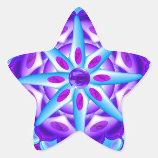 Mandala Planula Pegatina En Forma De Estrella
