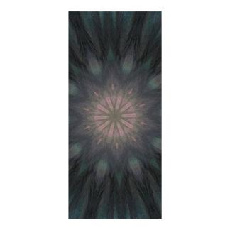 Mandala plumosa elegante de la pluma del trullo de tarjetas publicitarias