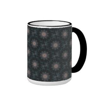 Mandala plumosa elegante de la pluma del trullo de tazas de café