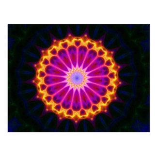 Mandala Postcard - Yellow and Pink