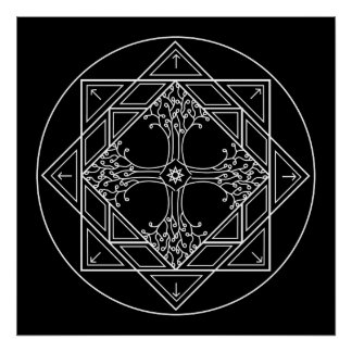 Mandala Poster Print - Expansion B/W