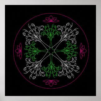 Mandala Poster Print - The Trees Are Calling