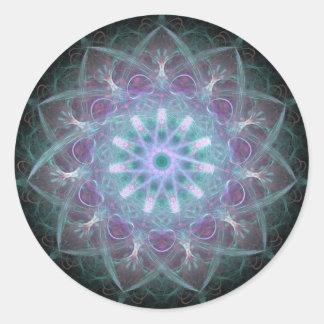 Mandala potente de la alta energía pegatinas redondas