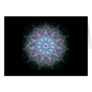 Mandala potente de la alta energía felicitación