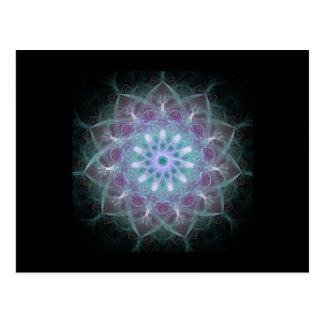 Mandala potente de la alta energía tarjetas postales