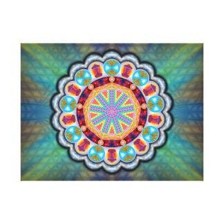 Mandala Proteção Impressão Em Canvas