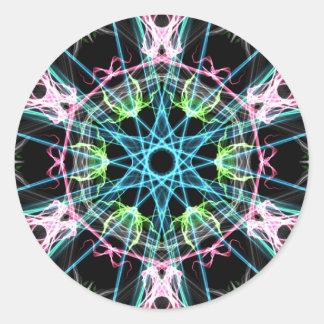 Mandala psicodelica.png classic round sticker