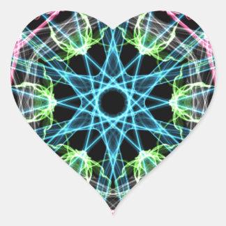 Mandala psicodelica.png heart sticker