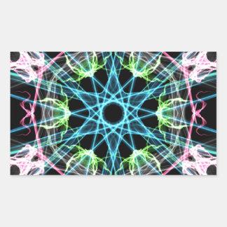 Mandala psicodelica.png rectangular sticker