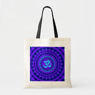 Mandala púrpura azul de la yoga bolsa tela barata