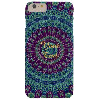 Mandala púrpura, azul y verde funda barely there iPhone 6 plus