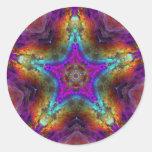 Mandala púrpura de la ESTRELLA Etiquetas