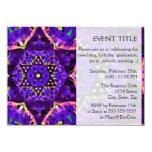 Mandala púrpura de la estrella invitación 11,4 x 15,8 cm