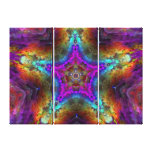 Mandala púrpura de la ESTRELLA Lona Envuelta Para Galerias