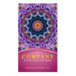 Mandala púrpura de Lotus con rosa Tarjeta De Negocio