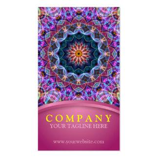 Mandala púrpura de Lotus con rosa Tarjetas De Visita