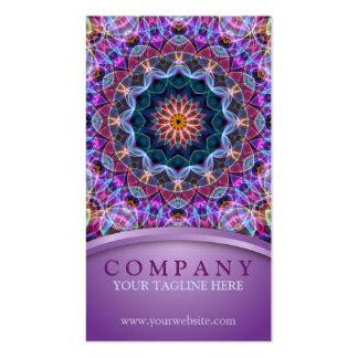 Mandala púrpura de Lotus Tarjetas De Visita