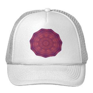 Mandala púrpura del caleidoscopio de las mariposas gorros bordados