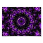 Mandala púrpura del caleidoscopio de los anillos d fotografía