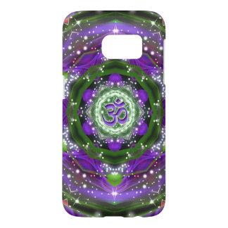 Mandala púrpura y verde de Namaste Funda Samsung Galaxy S7