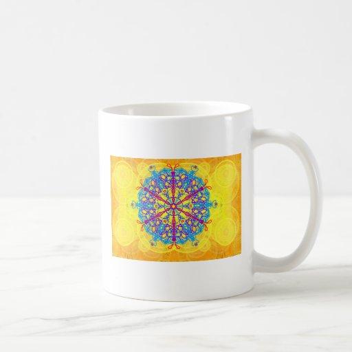 Mandala real que dispara taza básica blanca