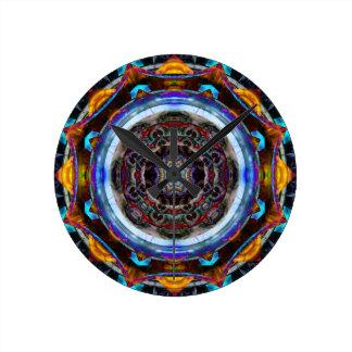 Mandala reflexiva del fractal reloj
