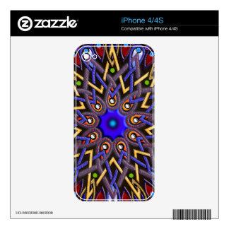 Mandala Retro OPTICAL ILLUSION Art Skins iPhone 4S Decal