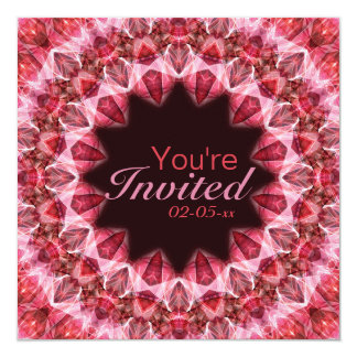 Mandala roja - 108 invitación 13,3 cm x 13,3cm