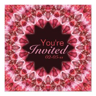 "Mandala roja - 108 invitación 5.25"" x 5.25"""