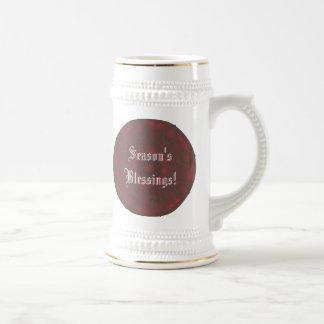 Mandala roja color de rosa del caleidoscopio de jarra de cerveza