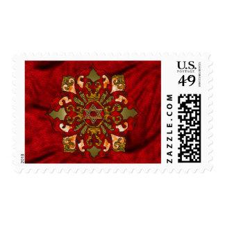 Mandala roja de Jánuca Estampilla
