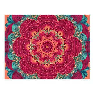 Mandala roja de Lotus Postal